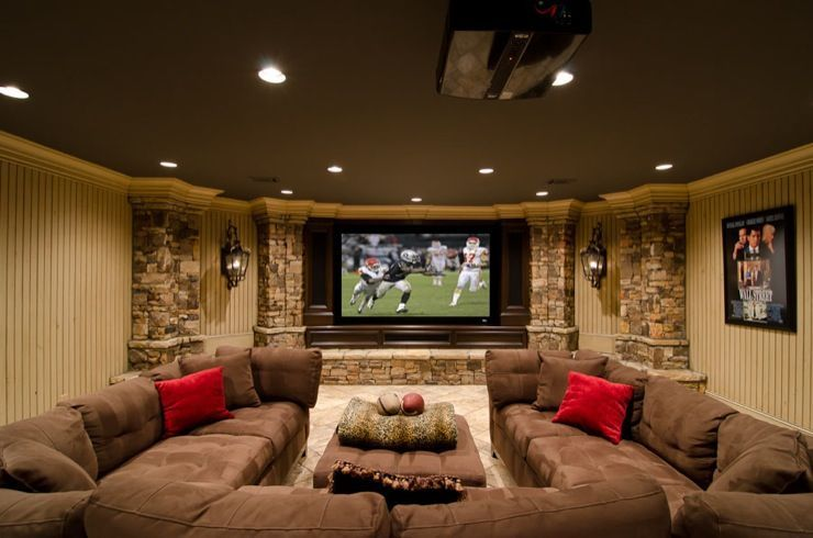Home Theater Decor Oversized Sectional